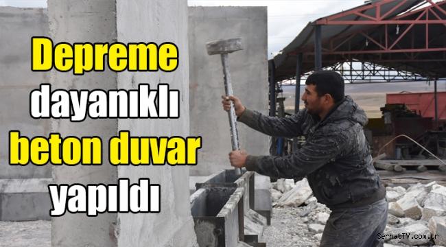 Kars'ta depreme dayanıklı beton duvar yapıldı