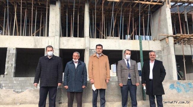 Kaymakam İlidi Gençlik Merkezi inşaatını inceledi