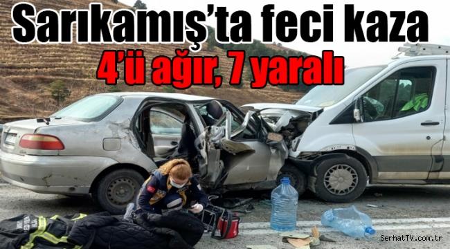 Sarıkamış'ta feci kaza 7 yaralı