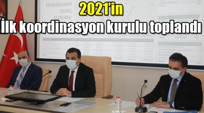 Kars'ta 2021'in ilk il koordinasyon kurulu toplandı