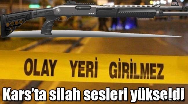 Kars'ta silah sesleri yükseldi