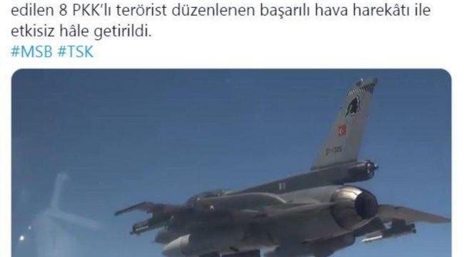 Son dakika haber... MSB: 8 PKK'lı terörist etkisiz hale getirildi