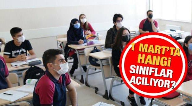 2021 Okullar ne zaman açılacak? MEB 1 Mart ikinci dönem hangi sınıflar açılıyor? Valilikler...