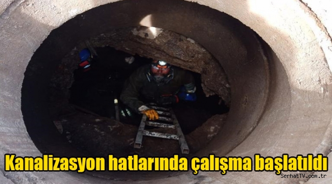 Kanalizasyon hatlarında çalışma başlatıldı