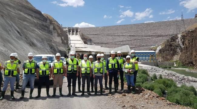 Karakurt Barajı ve HES Tesisi incelendi