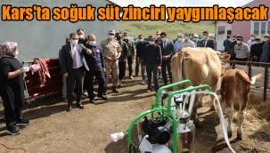 Kars'ta soğuk süt zinciri yaygınlaşacak