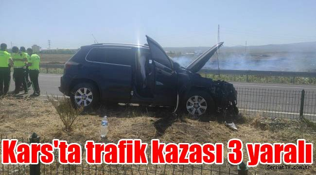 Kars'ta trafik kazası 3 yaralı