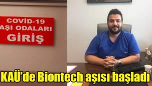 KAÜ'de Biontech aşısı başladı