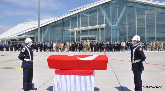 Şehit Astsubayın cenazesi memleketine gönderildi