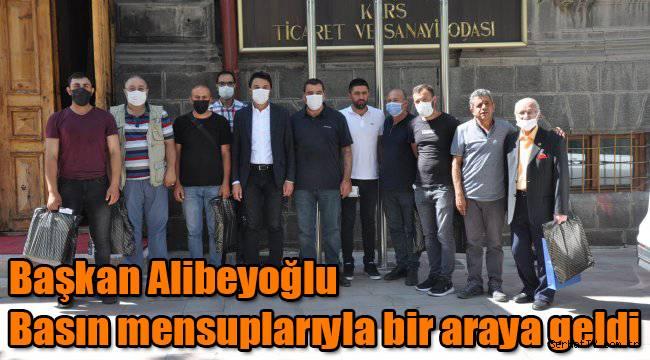Başkan Alibeyoğlu Basın mensuplarıyla bir araya geldi
