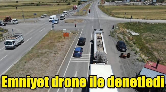 Emniyet drone ile denetledi