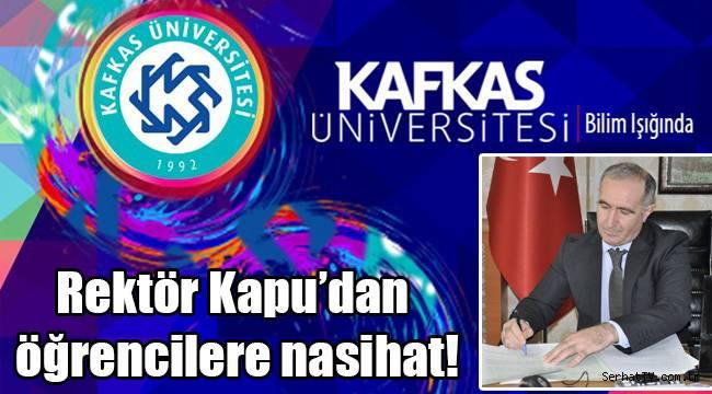 Rektör Kapu'dan öğrencilere nasihat!